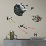 Star Wars: Ep VII Spaceships Peel & Stick Wall Decals Kalkomania ścienna