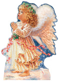 Little Christmas Angel - Dona Gelsinger Art Lifesize Standup Cardboard Cutouts