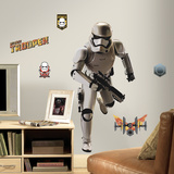 Star Wars: Ep VII Storm Trooper Peel & Stick Giant Wall Decal Vinilo decorativo
