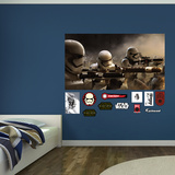 Star Wars: Episode VII The Force Awakens Stormtrooper Battle Mural Wall Mural
