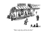 """""""That's why they call him the Kid."""" - New Yorker Cartoon Premium Giclee Print by Frank Cotham"""