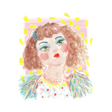 Vintage Doll 2, 2014 Giclee Print by Jo Chambers