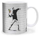 Banksy Flower Bomber Mug Mug