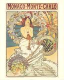 Monaco Monte-Carlo Prints by Alphonse Mucha