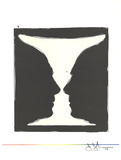 Cup, Two Picasso Profiles Collectable Print by Jasper Johns