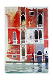 The Red House, Venice Giclee Print by Simon Fletcher