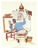 Triple Self-Portrait Prints by Norman Rockwell