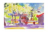 Port Le Bar, France Giclee Print by Simon Fletcher