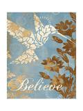 Believe Silhouette Poster par Piper Ballantyne