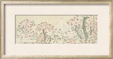 The Mount Fuji with Cherry Trees in Bloom Framed Giclee Print by Katsushika Hokusai