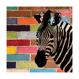 Brick Wall Zebra Posters by Piper Ballantyne