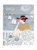 Having Tea by the Sea, 2015 Giclee Print by Susan Adams