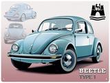 VW Wolfsburg Beetle Type 1 Plaque en métal