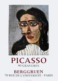 90 Gravures at Berggruen Collectable Print by Pablo Picasso