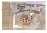 St. Ives Rooftops Prints by Ben Nicholson
