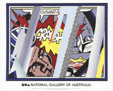 Reflections on Crash Kunst af Roy Lichtenstein