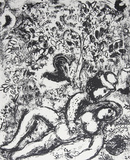The Pair in a Tree Collectable Print by Marc Chagall