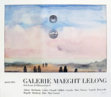 Galerie Maeght Lelong Collectable Print by Saul Steinberg