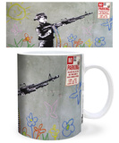 Banksy Crayon Shooter Mug Mug