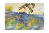 Three Houses Montalcino, Italy, 2003 Giclee Print by Simon Fletcher