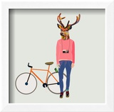 run4it - Fashionable Hipster Deer Obrazy