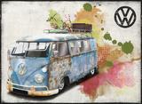VW Aged Grunge Tin Sign