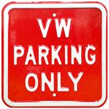 VW Parking Only - Square Panneaux et Plaques