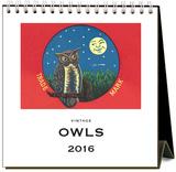 Owls - 2016 Easel Calendar Calendars