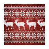 Red Nordic Sweater I Poster by  Artique Studio