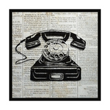 Vintage Telephone Poster by Piper Ballantyne