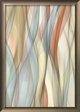Sheer Taupe and Blue Art by J.P. Clive