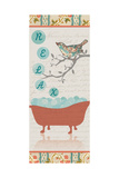 Relax Bird Bath Posters by Piper Ballantyne