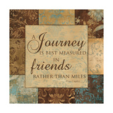 A Journey Is Measured Poster by  Artique Studio