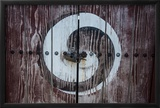 Yin and Yang Sign on a Door, Fortress of Suwon, UNESCO World Heritage Site, South Korea, Asia Framed Photographic Print by  Michael