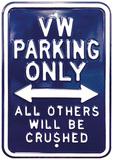 VW Parking Only - Rectangular Panneaux et Plaques