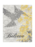 Believe Bird Premium Giclee Print by Piper Ballantyne