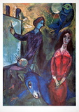 Blue Donkey Poster by Marc Chagall