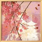 Cherry Blossom Pagoda Prints