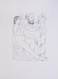 Escultor, Modelo y busto esculpido Kunstdrucke von Pablo Picasso