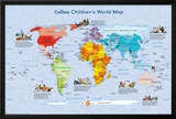 World Map Childrens Map Poster