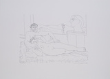 Escultor Resposando Poster di Pablo Picasso