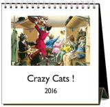 Crazy Cats - 2016 Easel Calendar Calendars