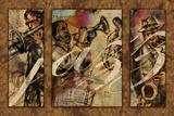 Jazz - Triptych Print by Eric Yang