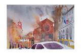Orvieto Piazza, Italy 2002 Giclee Print by Simon Fletcher