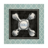 Blue Quatrefoil Bath I Art by Piper Ballantyne
