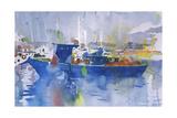 Blue Boat La Spezia, Italy, 2002 Giclee Print by Simon Fletcher