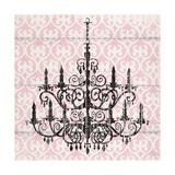 Pink Pattern Chandelier II Prints by Piper Ballantyne
