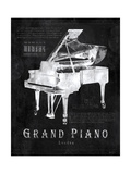 Black Print Grand Piano Prints by Eric Yang