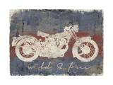 Wild and Free Motorcycle Print by Eric Yang