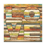 Striped Love Print by Melissa Pluch